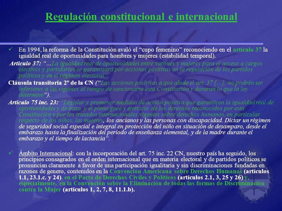 Regulación constitucional e internacional