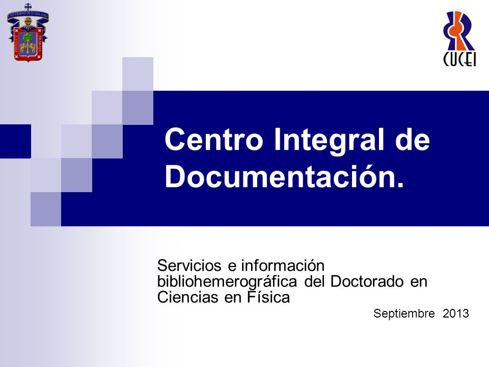 Centro Integral de Documentación.
