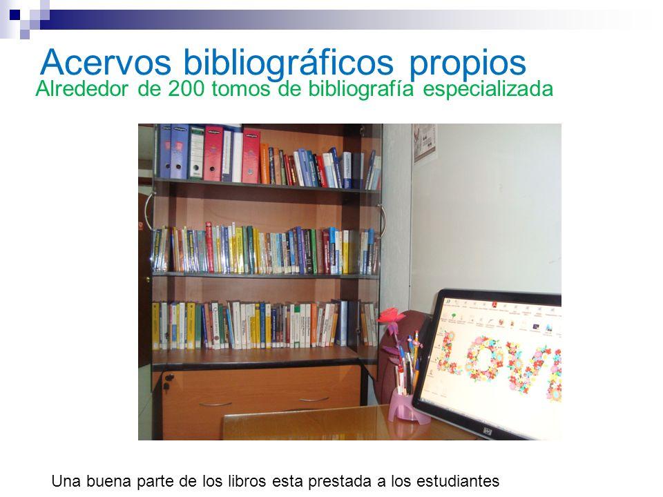 Acervos bibliográficos propios