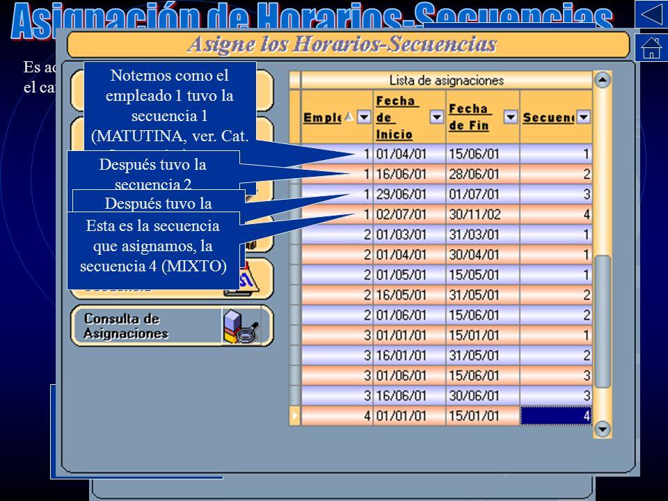 Asignación de Horarios-Secuencias
