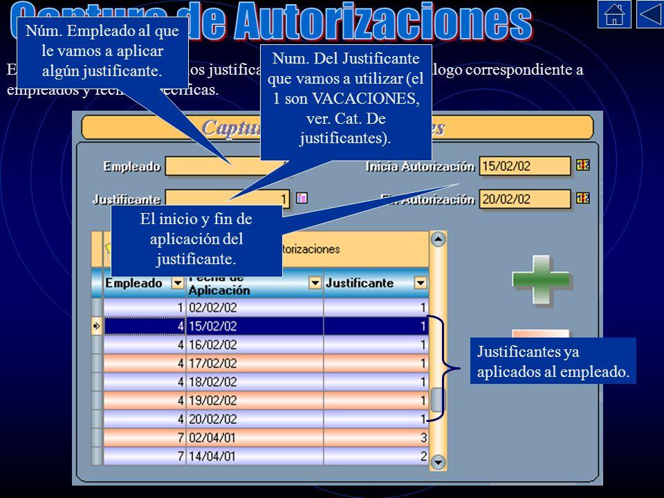 Captura de Autorizaciones
