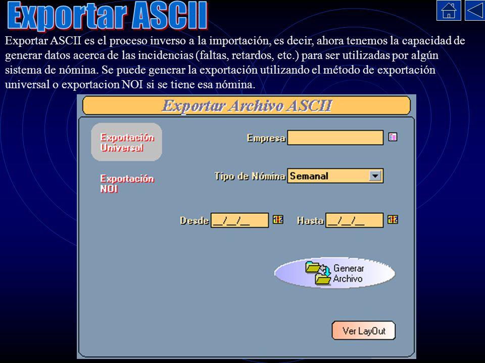 Exportar ASCII