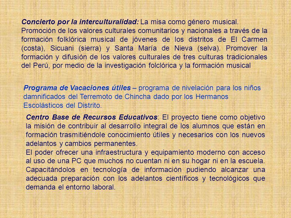 Concierto por la interculturalidad: La misa como género musical.