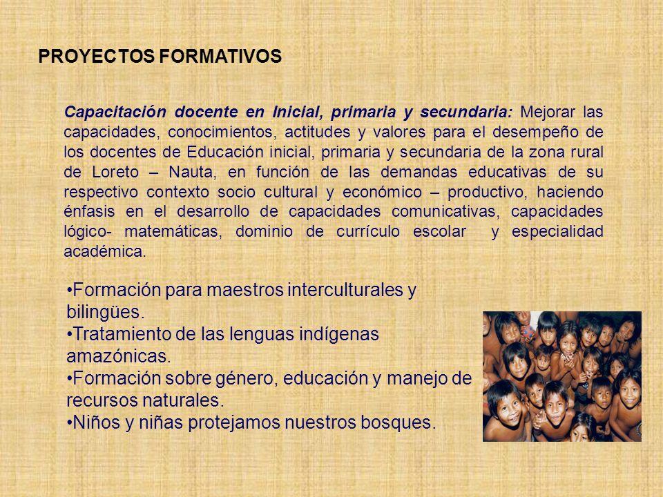 Formación para maestros interculturales y bilingües.