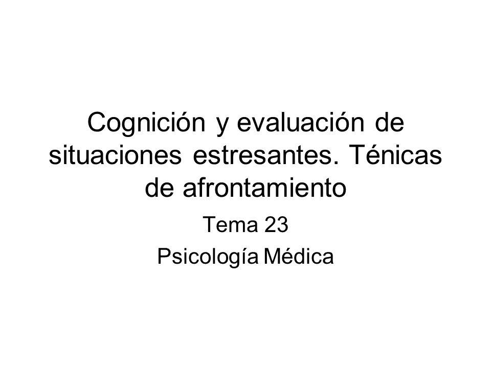 Tema 23 Psicología Médica