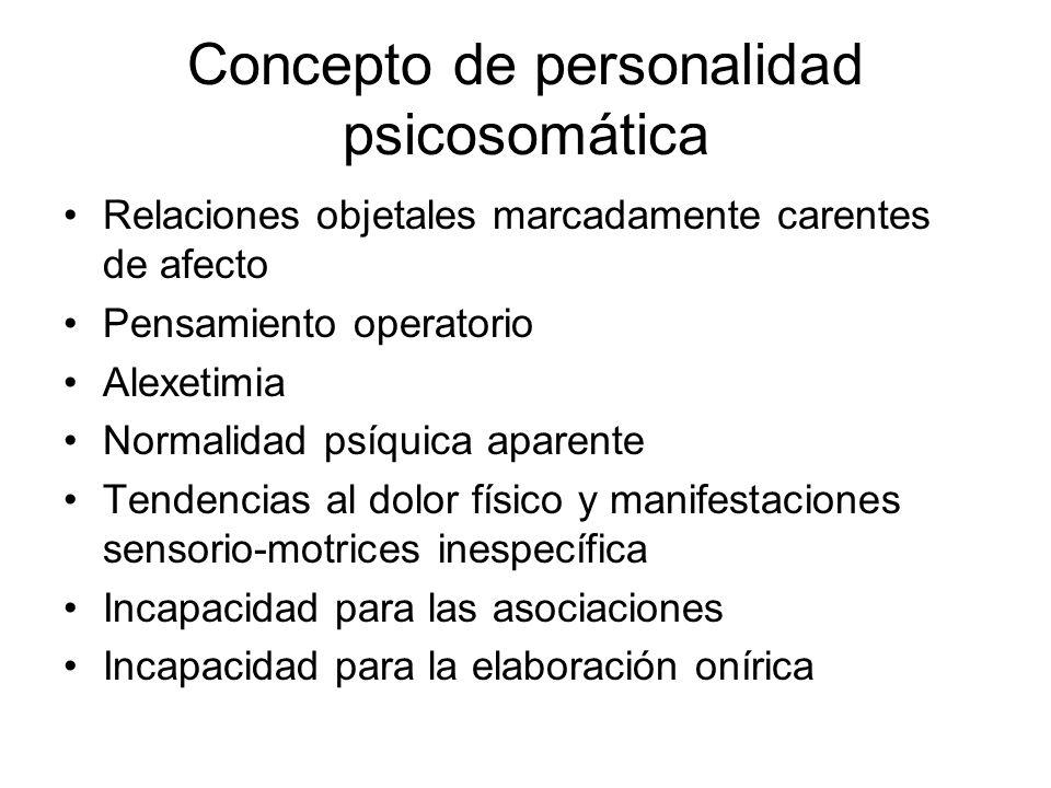 Concepto de personalidad psicosomática