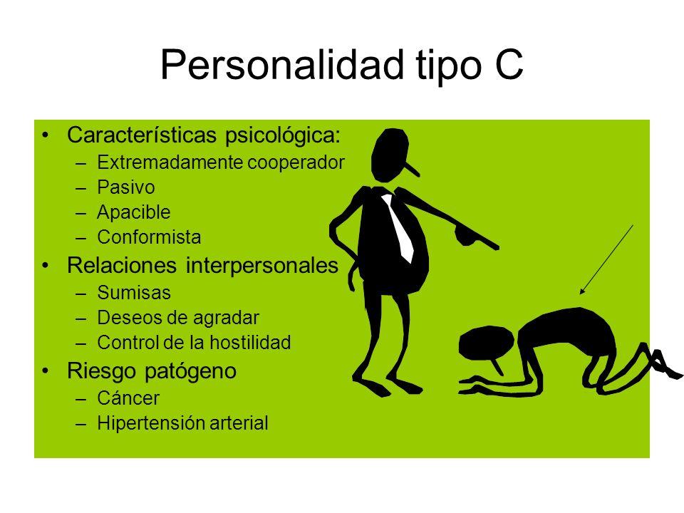 Personalidad tipo C Características psicológica: