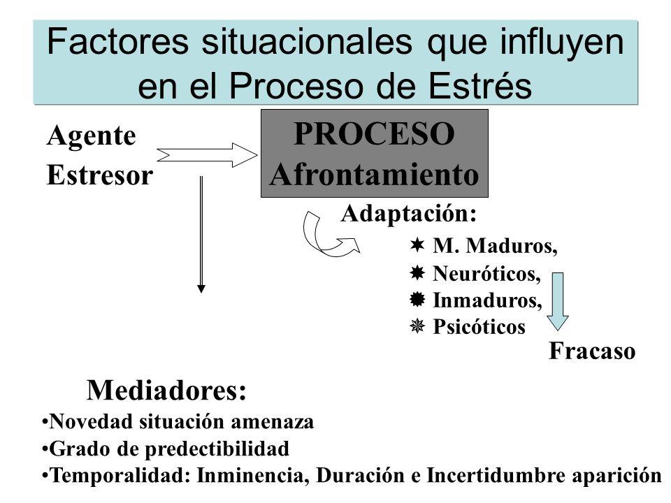 Factores situacionales que influyen en el Proceso de Estrés