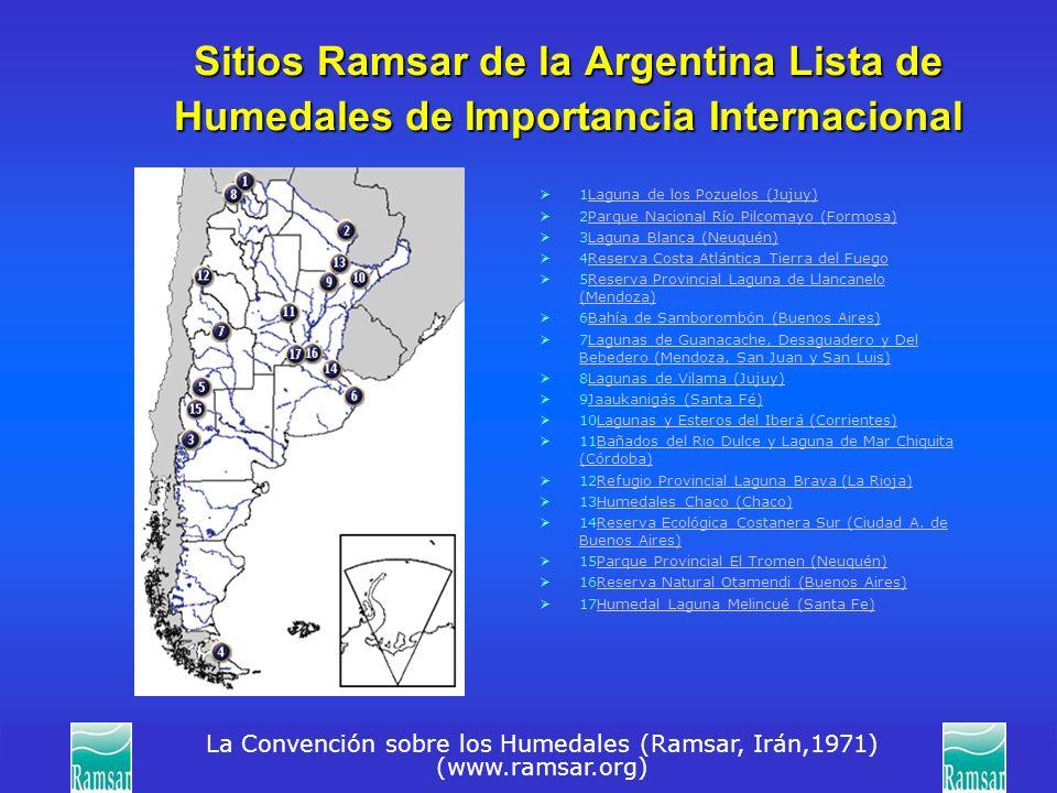 Sitios Ramsar de la Argentina Lista de Humedales de Importancia Internacional