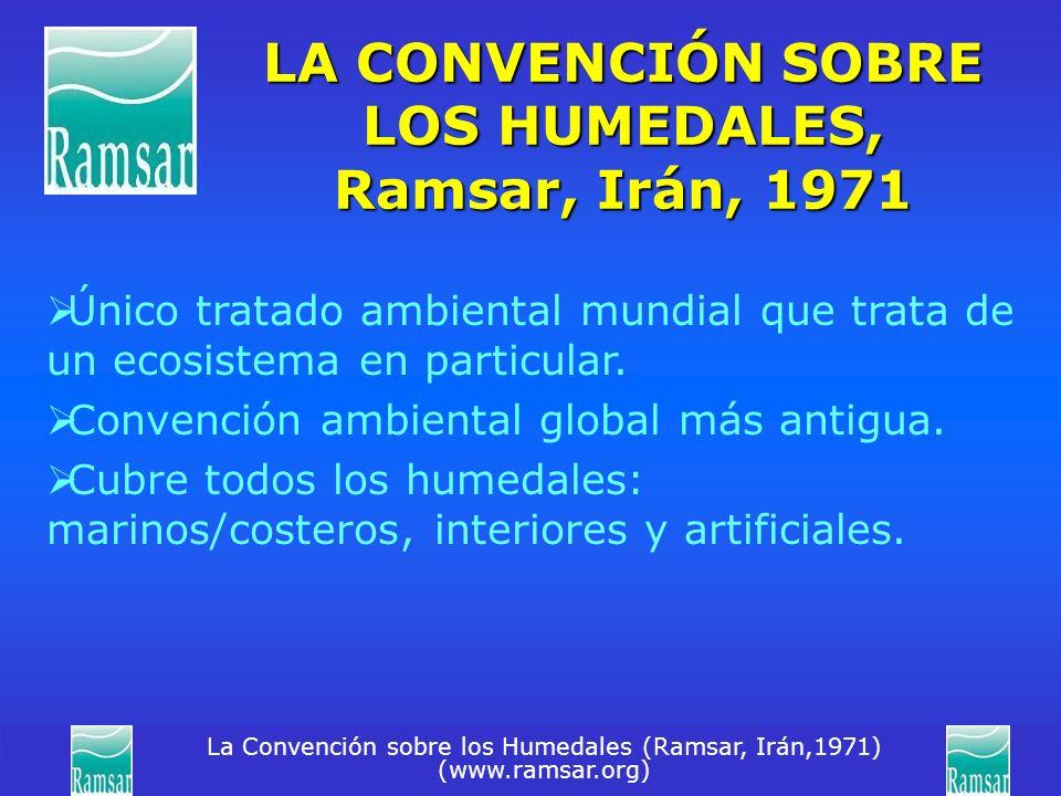 LA CONVENCIÓN SOBRE LOS HUMEDALES, Ramsar, Irán, 1971