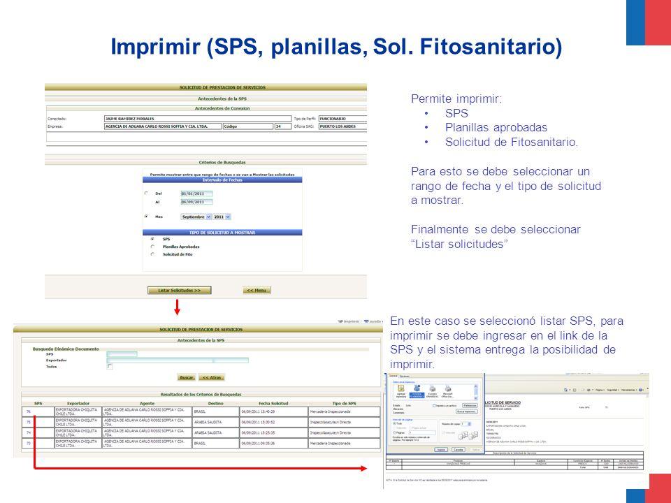 Imprimir (SPS, planillas, Sol. Fitosanitario)