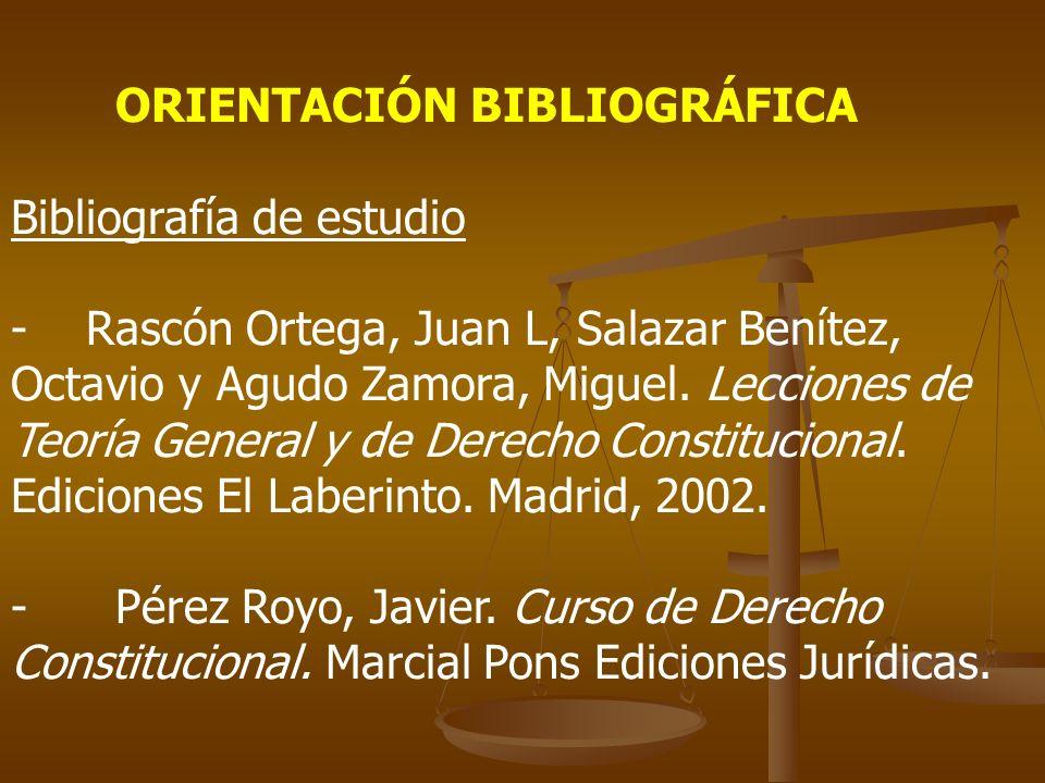 ORIENTACIÓN BIBLIOGRÁFICA