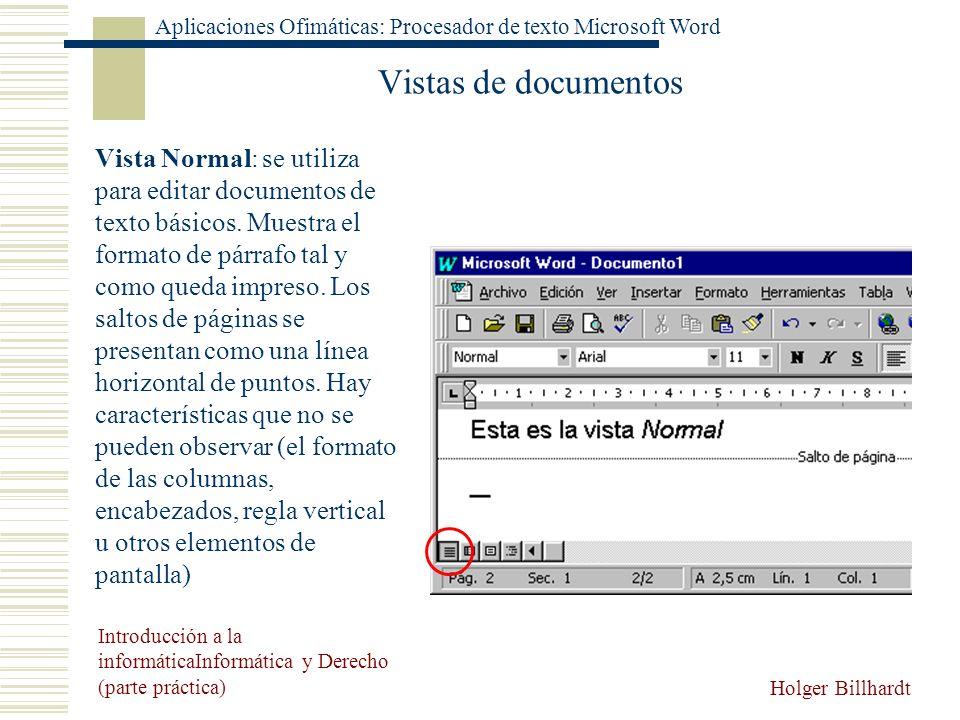 Vistas de documentos