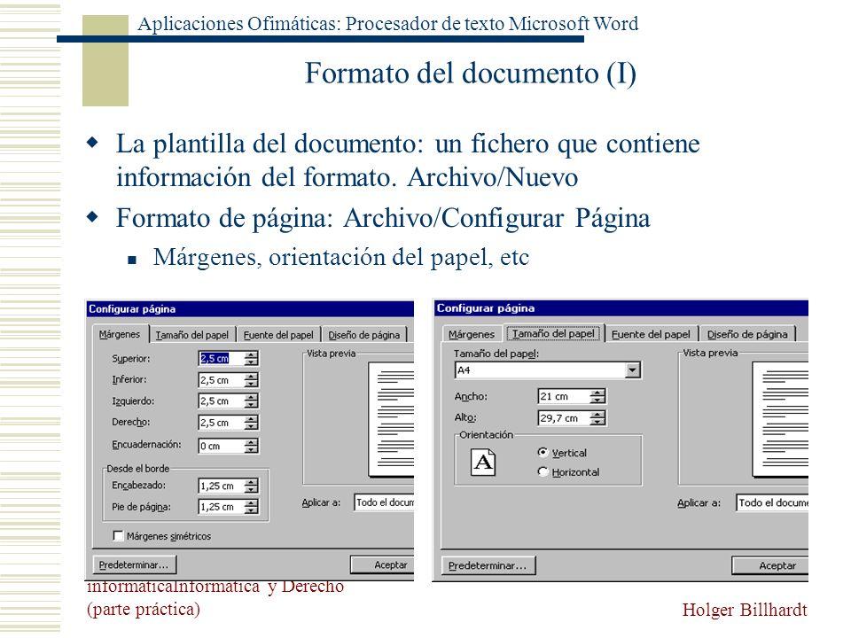 Formato del documento (I)