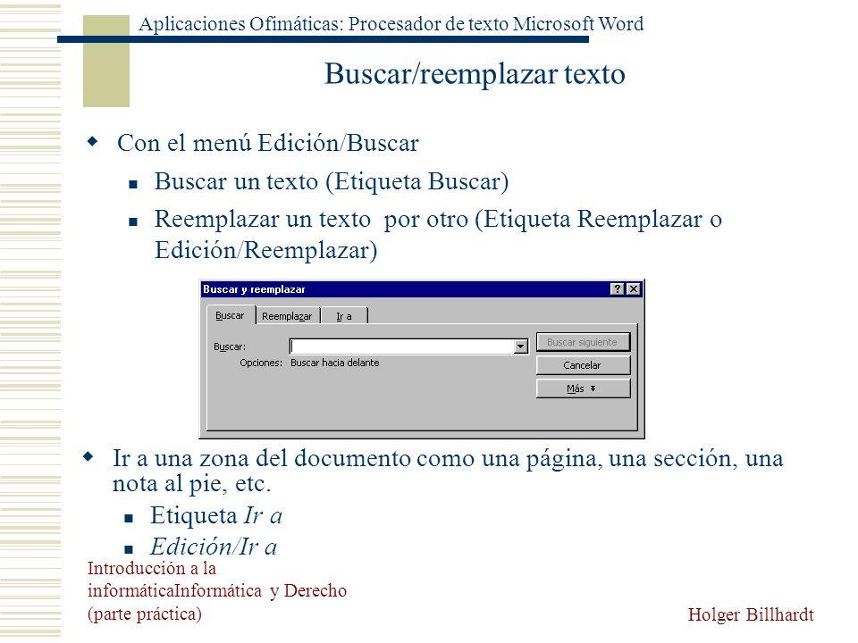 Buscar/reemplazar texto
