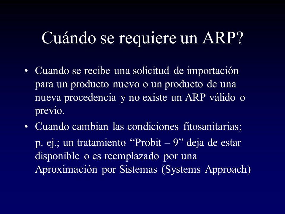 Cuándo se requiere un ARP