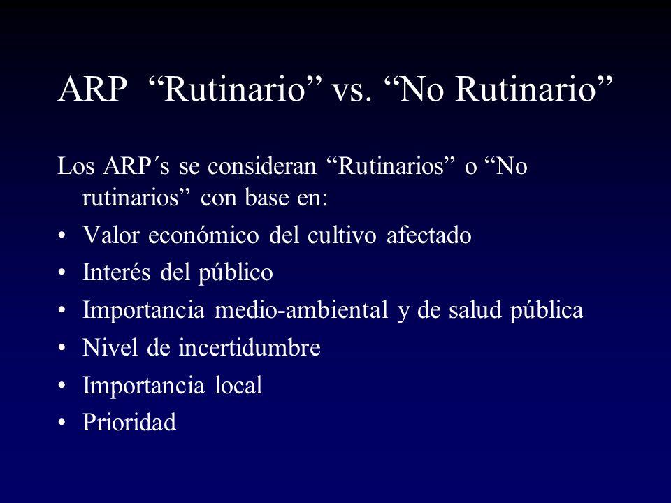 ARP Rutinario vs. No Rutinario