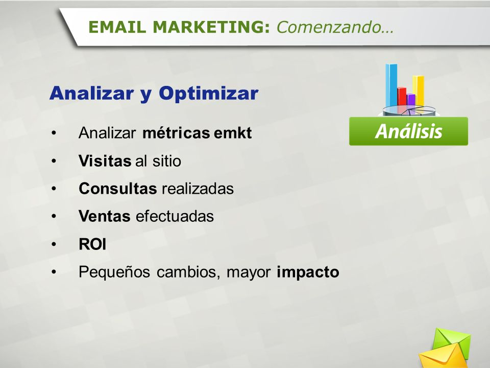 Analizar y Optimizar EMAIL MARKETING: Comenzando…