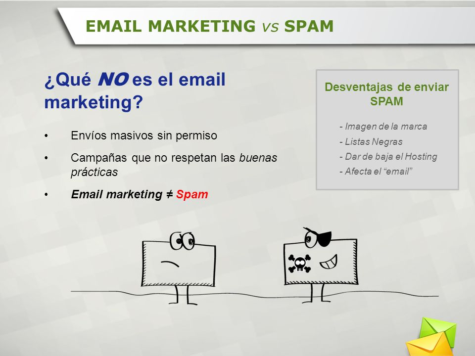 ¿Qué NO es el email marketing
