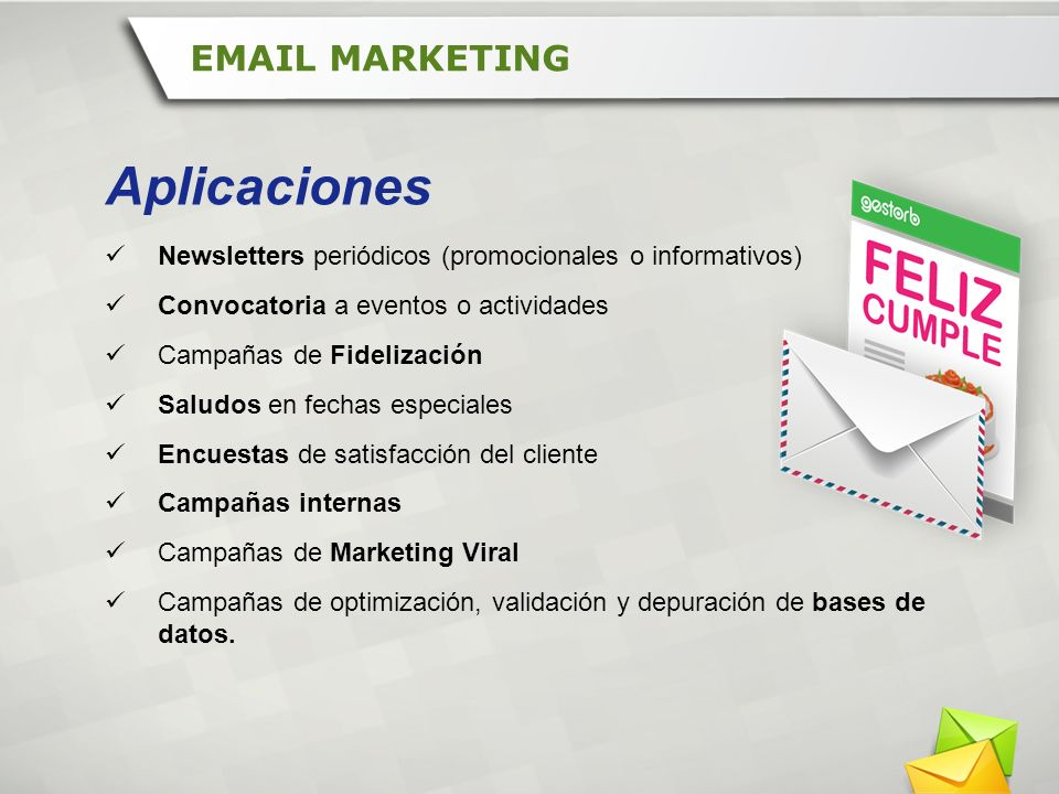 Aplicaciones EMAIL MARKETING