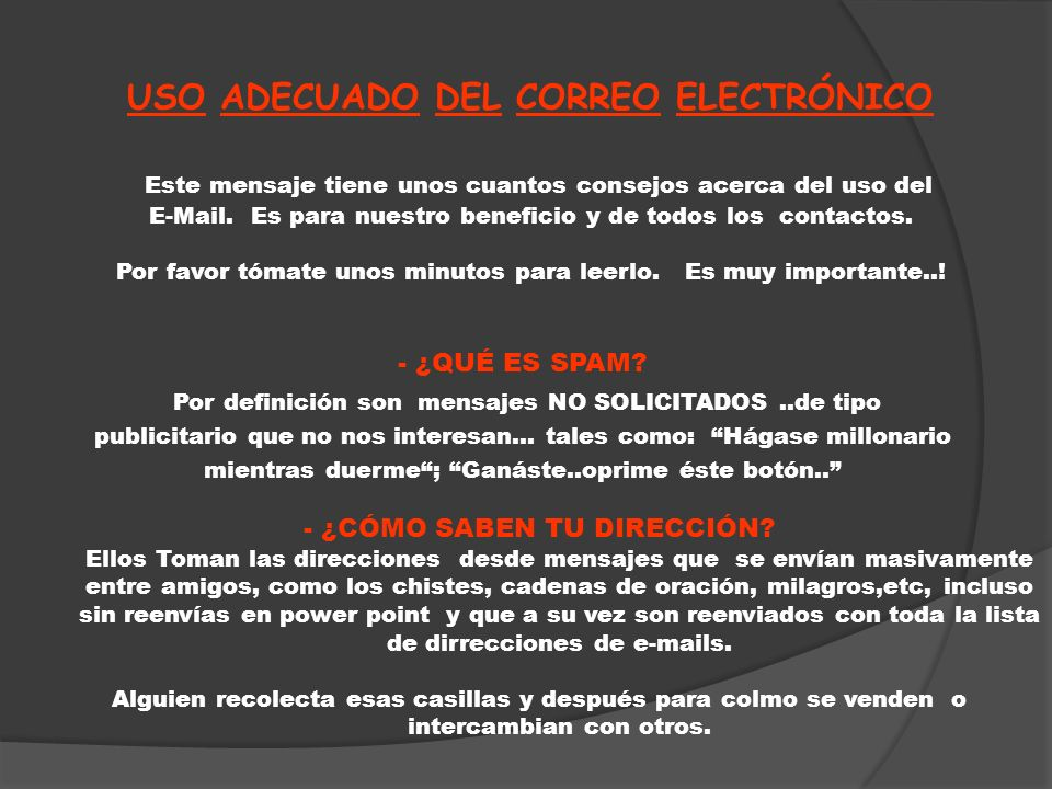 USO ADECUADO DEL CORREO ELECTRÓNICO