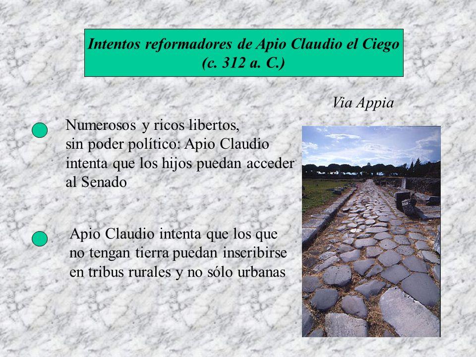 Intentos reformadores de Apio Claudio el Ciego