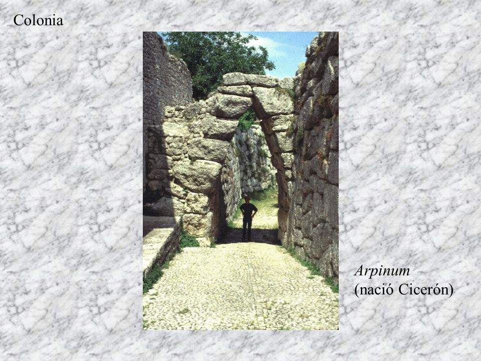 Colonia Arpinum (nació Cicerón)