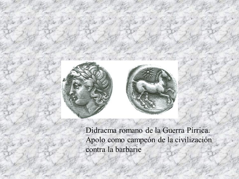 Didracma romano de la Guerra Pírrica.