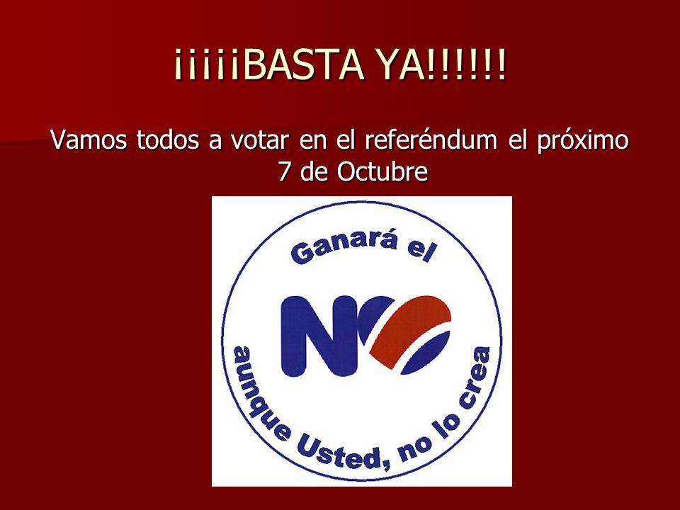 Vamos todos a votar en el referéndum el próximo 7 de Octubre