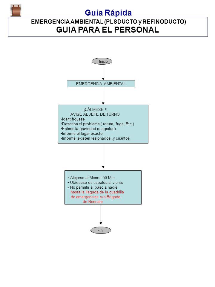 EMERGENCIA AMBIENTAL (PLSDUCTO y REFINODUCTO)