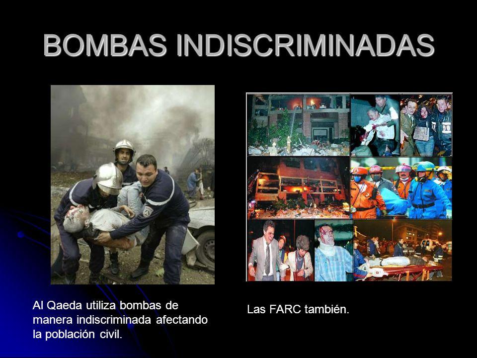 BOMBAS INDISCRIMINADAS