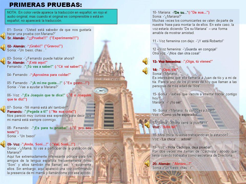 PRIMERAS PRUEBAS:
