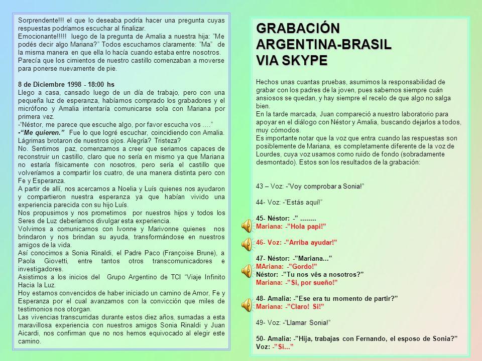 GRABACIÓN ARGENTINA-BRASIL VIA SKYPE