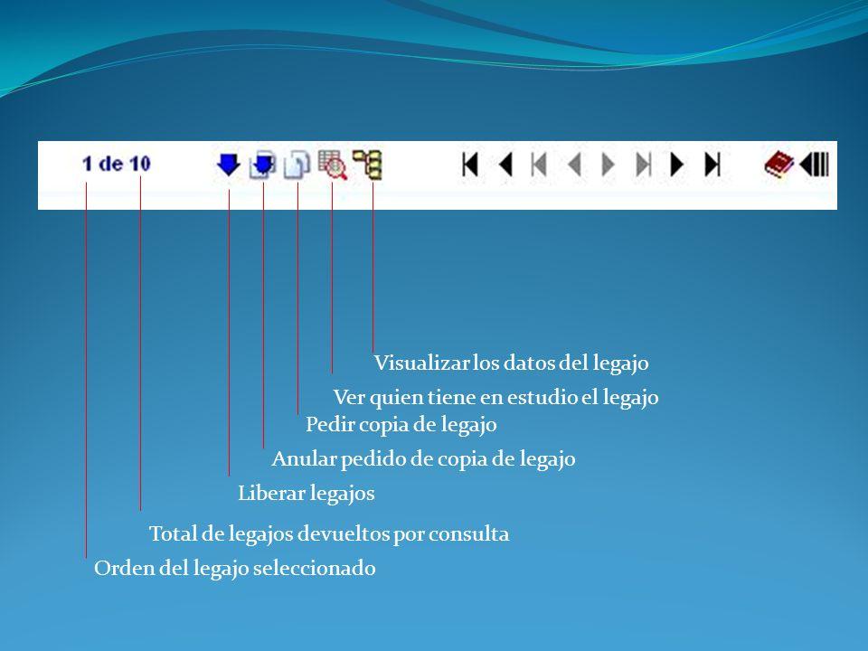 Visualizar los datos del legajo