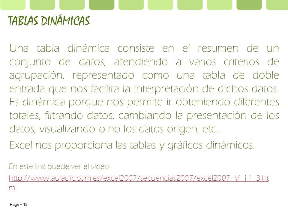 TABLAS DINÁMICAS