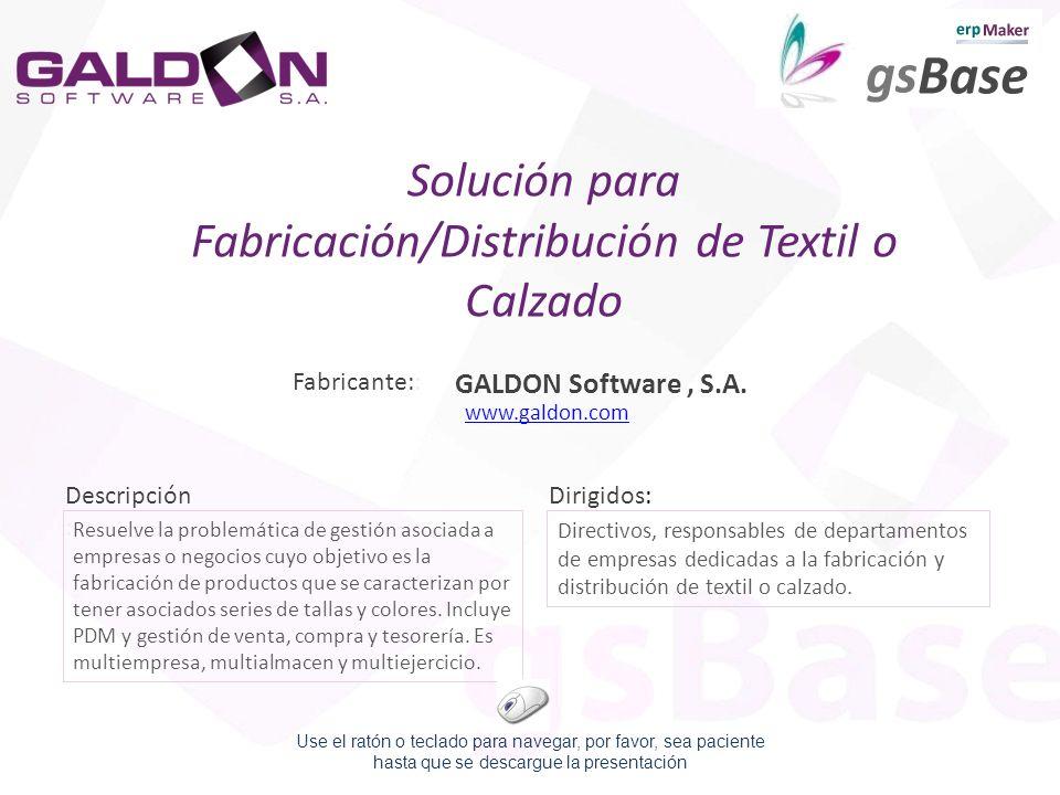 Solución para Fabricación/Distribución de Textil o Calzado