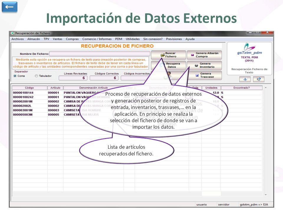Importación de Datos Externos