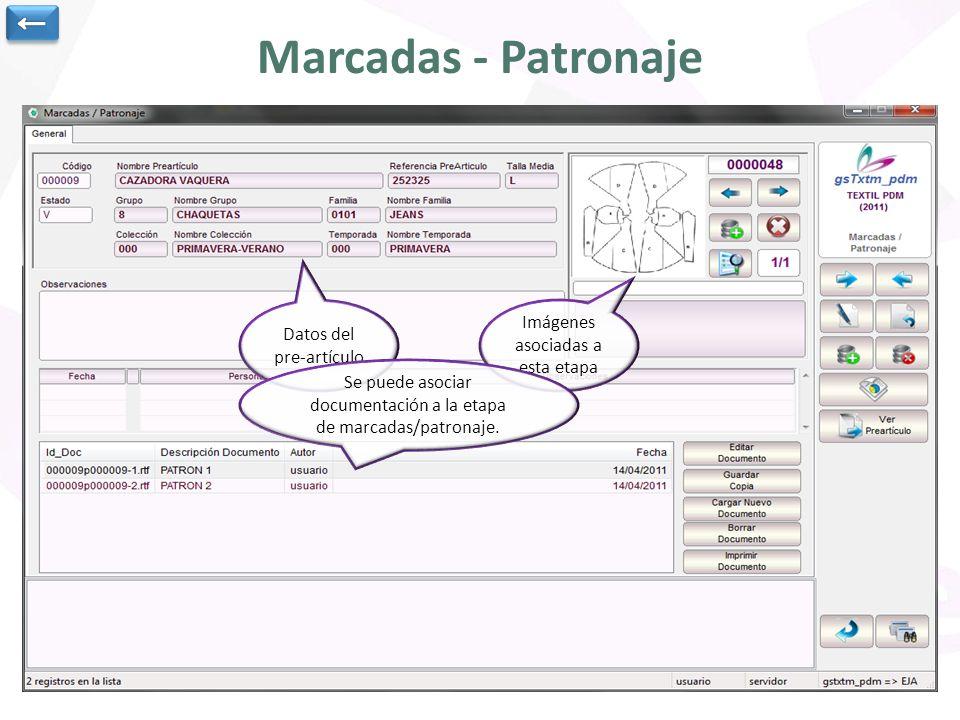 Marcadas - Patronaje ← Imágenes asociadas a esta etapa