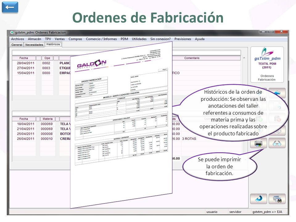 Ordenes de Fabricación