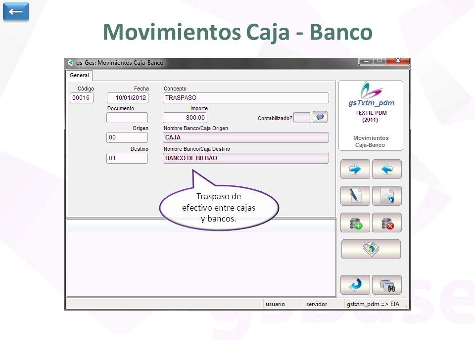 Movimientos Caja - Banco