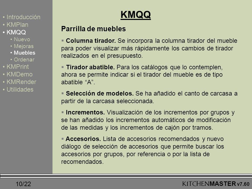 KMQQ Parrilla de muebles Introducción KMPlan KMQQ KMPrint KMDemo