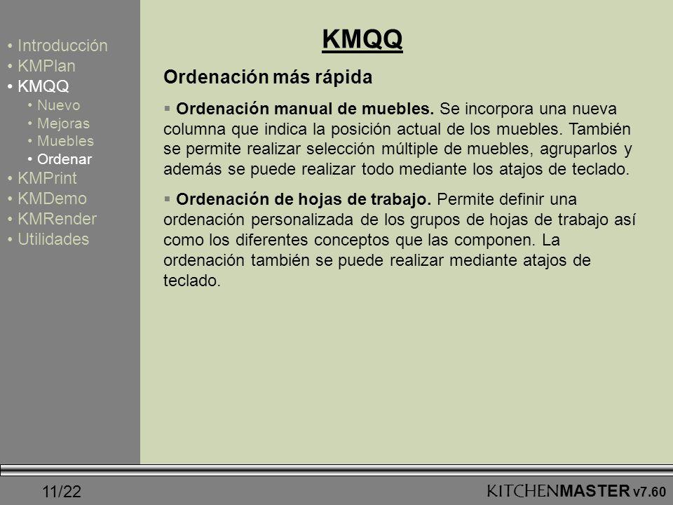 KMQQ Ordenación más rápida Introducción KMPlan KMQQ