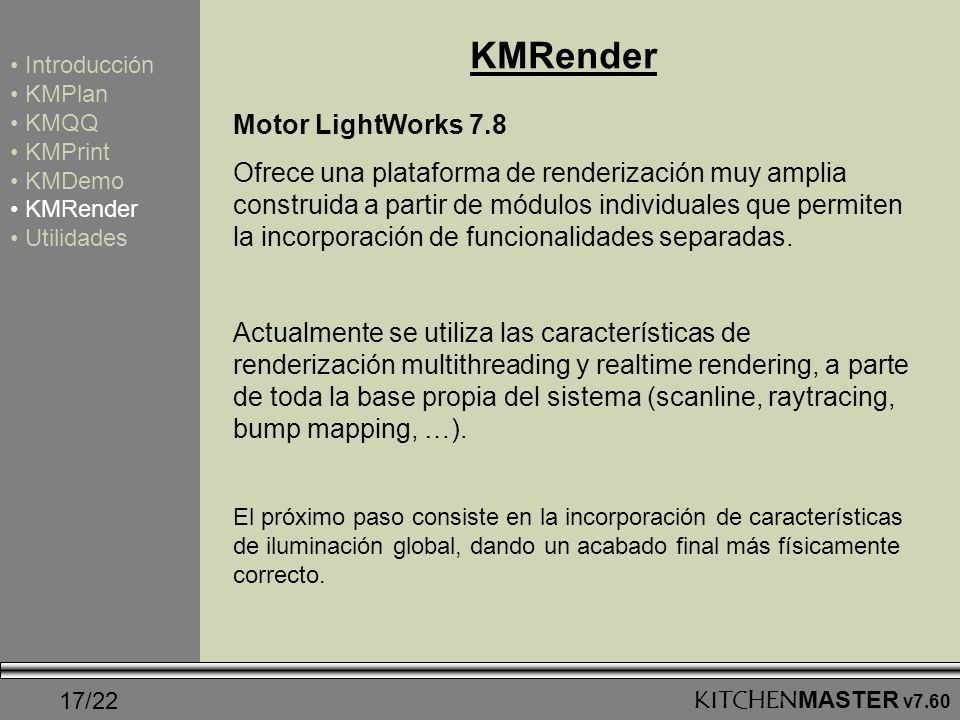 KMRender Motor LightWorks 7.8