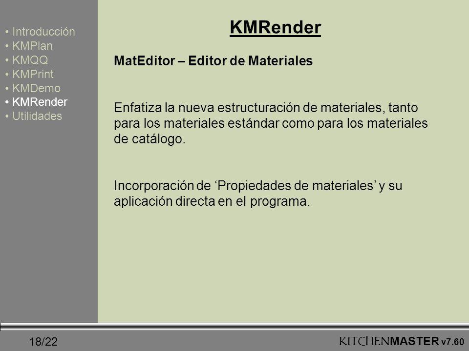 KMRender MatEditor – Editor de Materiales