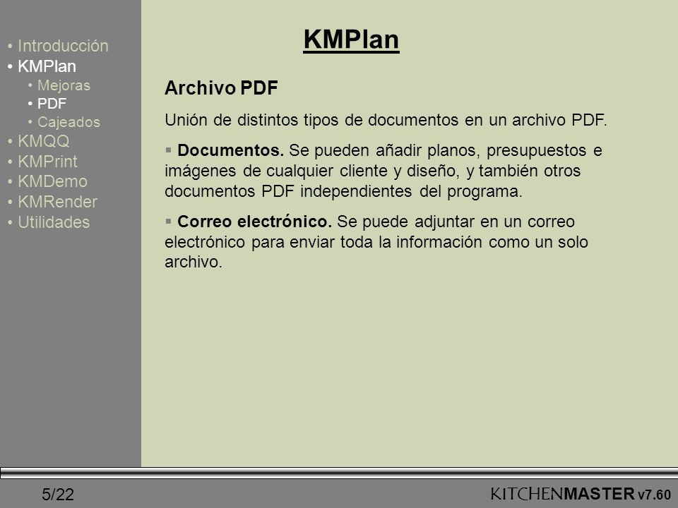 KMPlan Archivo PDF Introducción KMPlan KMQQ