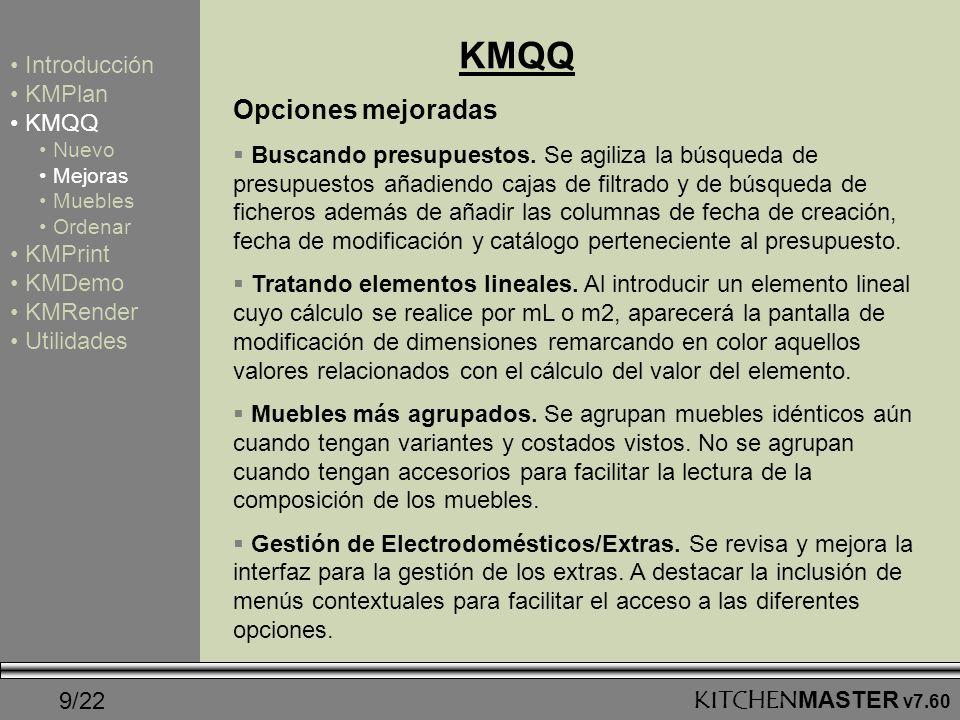 KMQQ Opciones mejoradas Introducción KMPlan KMQQ