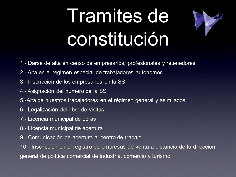 Tramites de constitución