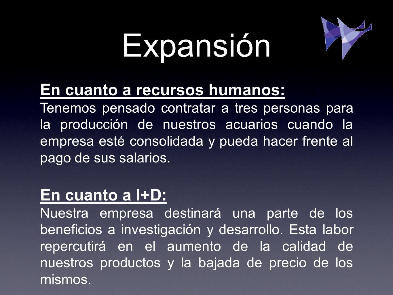 Expansión En cuanto a recursos humanos: En cuanto a I+D: