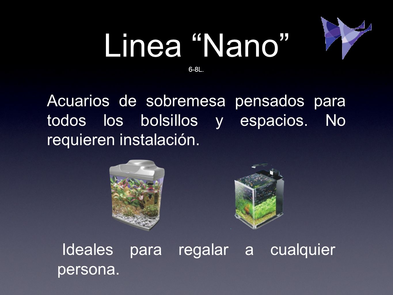 Linea Nano 6-8L. Acuarios de sobremesa pensados para todos los bolsillos y espacios. No requieren instalación.