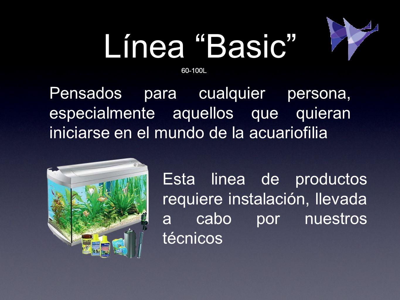 Línea Basic 60-100L. Pensados para cualquier persona, especialmente aquellos que quieran iniciarse en el mundo de la acuariofilia.